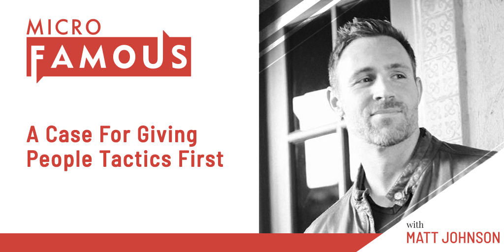 A Case For Giving People Tactics First